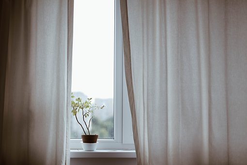 how to save money on bills windows with plant and curtains