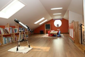A converted loft fully decorated after having loft insulation.