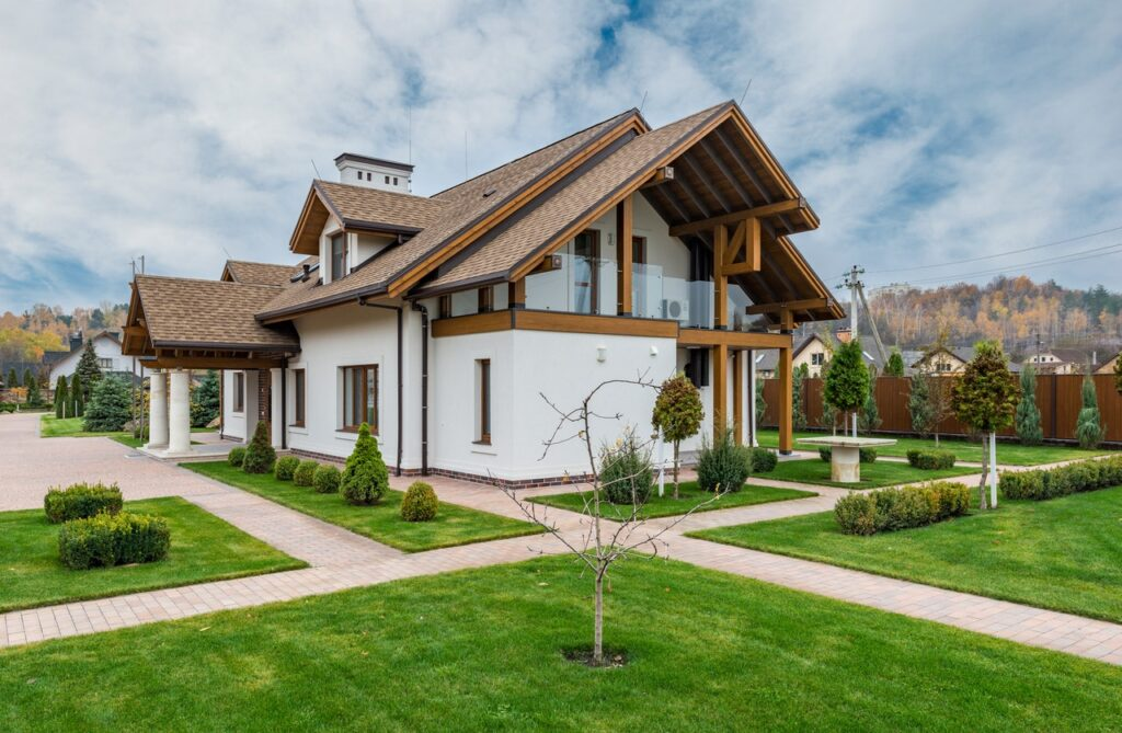 Sustainably built house